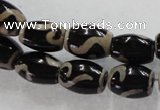 CAG5088 15.5 inches 8*12mm drum tibetan agate beads wholesale
