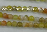 CAG5101 15.5 inches 6mm faceted round line agate beads wholesale