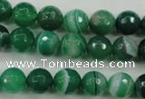 CAG5122 15.5 inches 8mm faceted round line agate beads wholesale