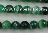 CAG5123 15.5 inches 10mm faceted round line agate beads wholesale