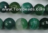 CAG5125 15.5 inches 14mm faceted round line agate beads wholesale