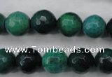 CAG5129 15.5 inches 12mm faceted round agate beads wholesale