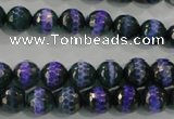 CAG5143 15 inches 8mm faceted round tibetan agate beads wholesale