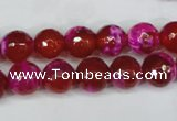 CAG5183 15 inches 10mm faceted round fire crackle agate beads