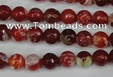 CAG5187 15 inches 8mm faceted round fire crackle agate beads