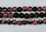 CAG5197 15 inches 6mm faceted round fire crackle agate beads