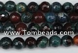CAG5211 15 inches 8mm faceted round fire crackle agate beads