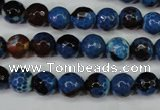 CAG5216 15 inches 8mm faceted round fire crackle agate beads