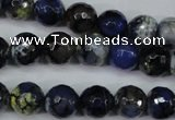 CAG5223 15 inches 10mm faceted round fire crackle agate beads