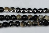 CAG5231 15 inches 6mm faceted round fire crackle agate beads