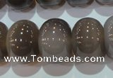 CAG5254 15.5 inches 15*20mm rondelle Brazilian grey agate beads