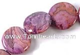 CAG526 15 inches 16mm coin purple crazy lace agate beads wholesale