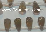 CAG5270 Top-drilled 6*11mm teardrop Brazilian grey agate beads