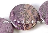 CAG528 15 inches 30mm purple coin crazy lace agate gemstone beads
