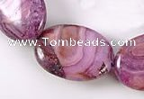 CAG529 15 inches 13*18mm oval purple crazy lace agate beads wholesale