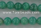 CAG5301 15.5 inches 6mm round peafowl agate gemstone beads