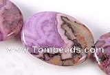 CAG531 15 inches 18*25mm oval purple crazy lace agate beads wholesale