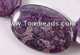 CAG532 15 inches 20*30mm oval purple crazy lace agate beads wholesale