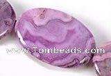 CAG533 20*30mm oval purple crazy lace agate gemstone beads wholesale