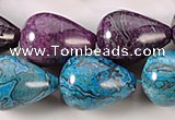 CAG539 15 inches 18*25mm teardrop crazy lace agate beads wholesale