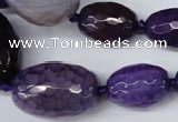CAG5405 10*14mm – 20*30mm faceted drum dragon veins agate beads
