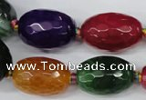 CAG5409 10*14mm – 20*30mm faceted drum dragon veins agate beads