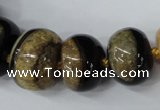 CAG5439 7*11mm � 20*30mm rondelle agate druzy geode agate beads