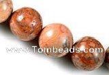 CAG547 15 inches 15mm round mahogany crazy lace agate beads wholesale