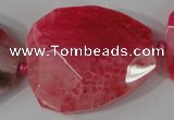 CAG5488 15.5 inches 30*35mm � 35*40mm faceted freeform agate beads