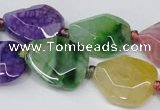 CAG5493 15.5 inches 18*22mm freeform agate gemstone beads