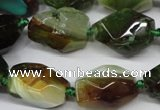 CAG5505 15.5 inches 15*20mm � 20*25mm faceted nuggets agate beads