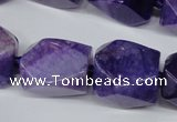 CAG5510 15.5 inches 16*17*22mm faceted nuggets agate beads