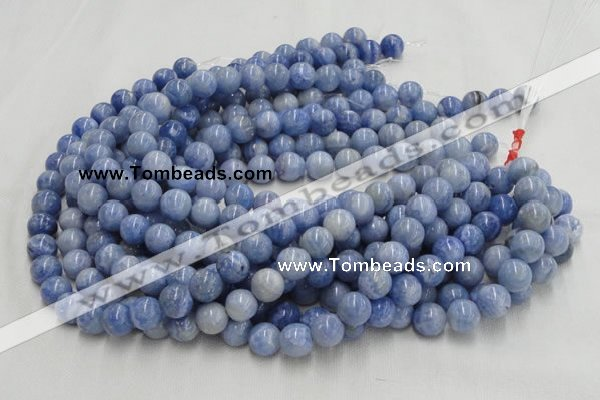 CAG552 16 inches 8mm round blue agate gemstone beads wholesale