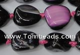CAG5527 15.5 inches 14*18mm - 22*32mm nuggets agate gemstone beads