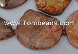 CAG5533 15.5 inches 20*25mm - 25*35mm freeform agate gemstone beads