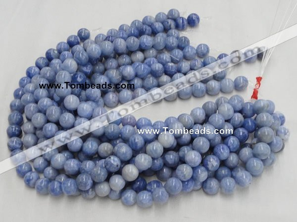 CAG554 16 inches 12mm round blue agate gemstone beads wholesale