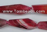 CAG5575 15 inches 15*30mm - 18*45mm faceted nuggets agate beads