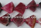 CAG5581 15 inches 15*20mm faceted triangle dragon veins agate beads