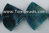 CAG5585 15 inches 30*40mm faceted triangle dragon veins agate beads