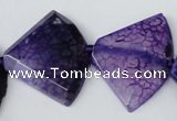CAG5587 15 inches 30*40mm faceted triangle dragon veins agate beads