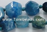 CAG5591 15 inches 10*12mm - 25*27mm faceted nuggets agate beads