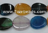 CAG5624 15 inches 15*28mm oval dragon veins agate beads wholesale