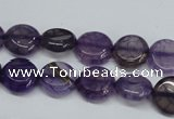 CAG5632 15 inches 12mm flat round dragon veins agate beads