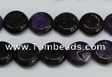 CAG5633 15 inches 12mm flat round dragon veins agate beads