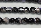 CAG5655 15 inches 4mm faceted round fire crackle agate beads