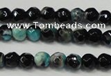 CAG5657 15 inches 4mm faceted round fire crackle agate beads