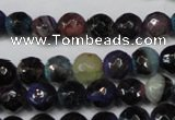 CAG5677 15 inches 6mm faceted round fire crackle agate beads