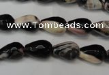 CAG5711 15 inches 8*12mm faceted teardrop fire crackle agate beads
