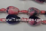 CAG5715 15 inches 10*14mm faceted teardrop fire crackle agate beads