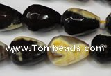 CAG5728 15 inches 13*18mm faceted teardrop fire crackle agate beads